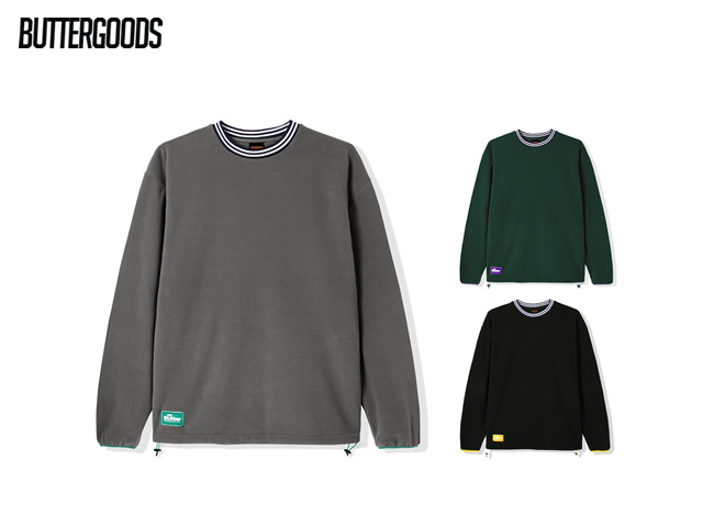 BUTTERGOODS|WOODLAND POLAR FLEECE CREWNECK