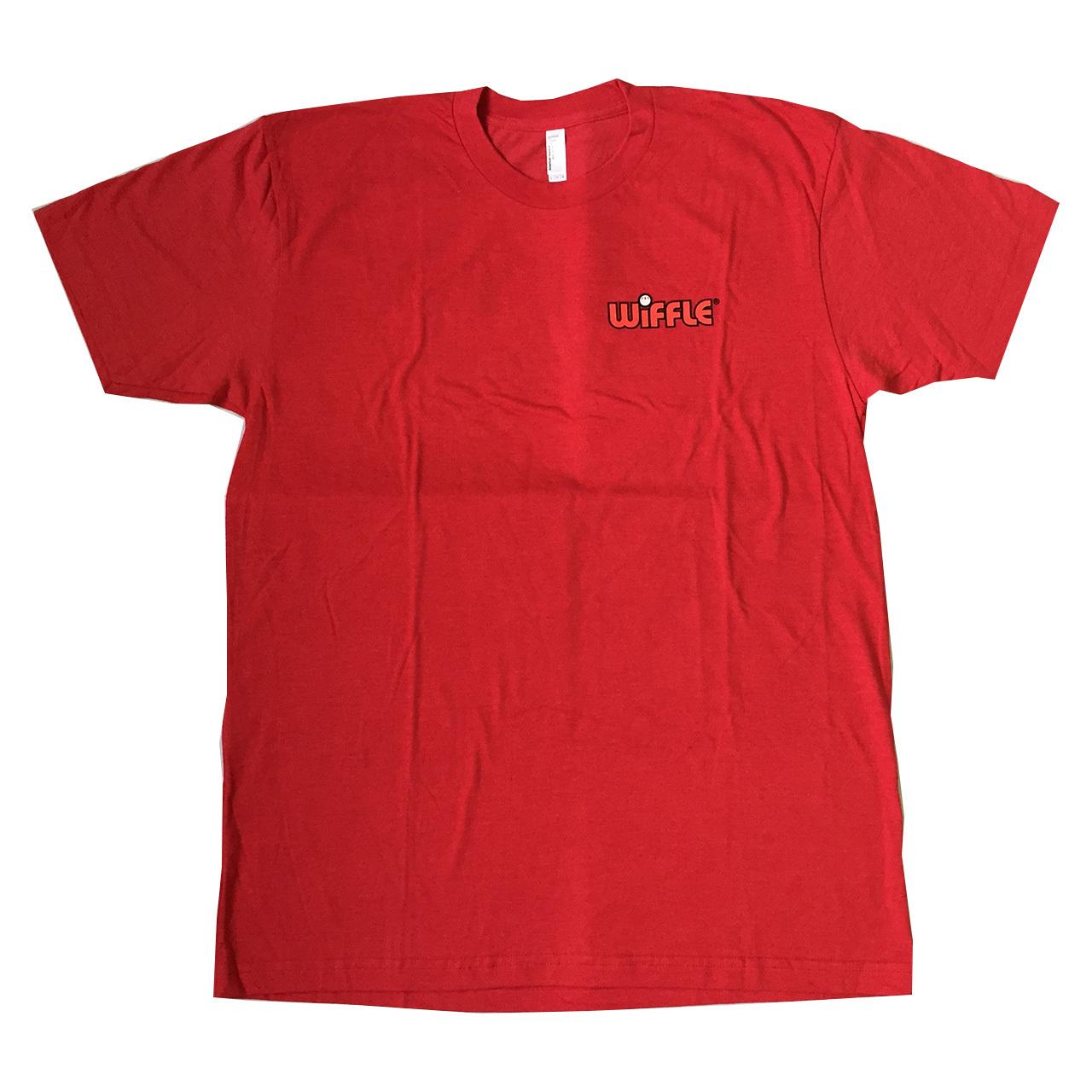 ウィッフルボール ロゴ入り Tシャツ レッド WIFFLE Ball