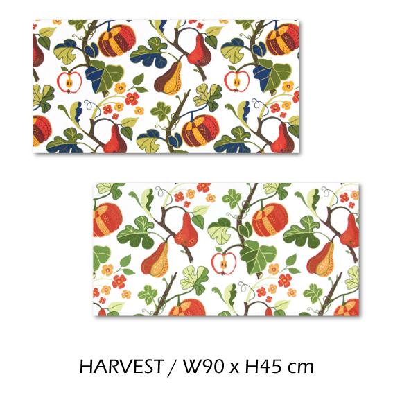 北欧生地 ファブリックパネル 横90 cm x 縦45 cm Kinnamark HARVEST 受注販売商品 (100315)