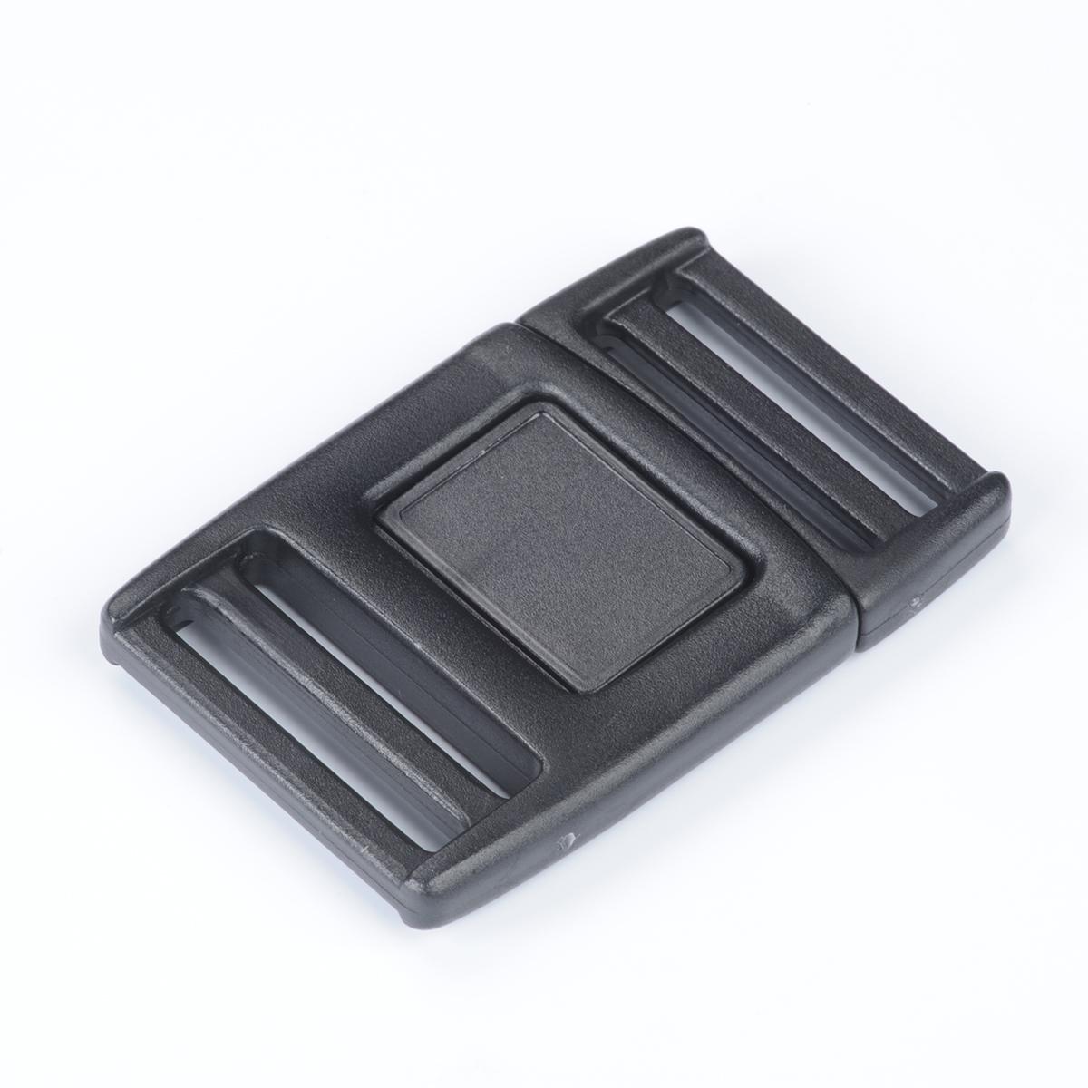 nifco プラスチック  フロントリリースバックル 両引きタイプ  黒 FR20B 1個