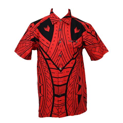 Aloha Shirt 2019 Tribal Red