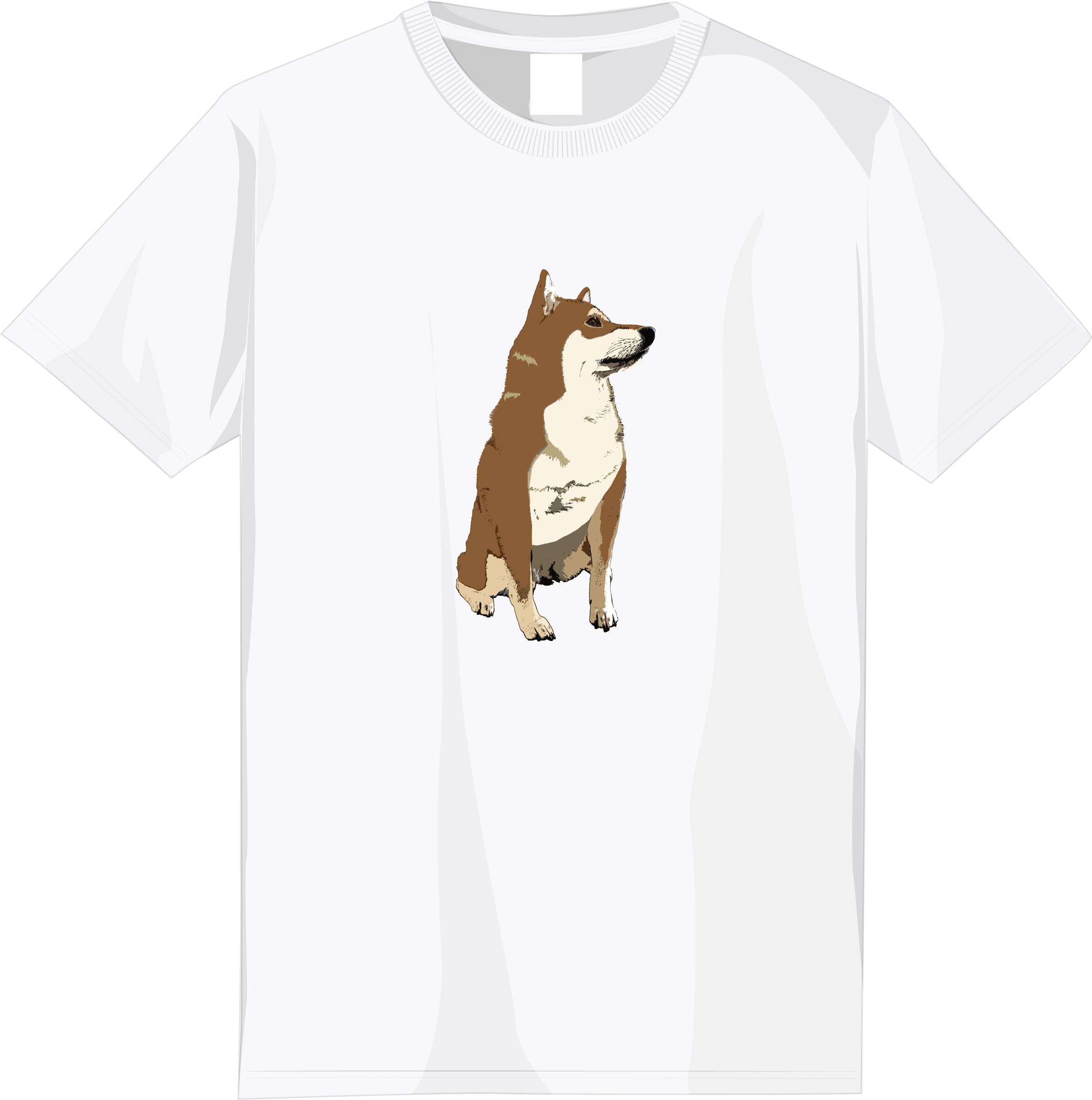 【期間限定受注】選べる全6種!フルカラー柴犬デザインTシャツ<④:赤柴文字なしタイプ>