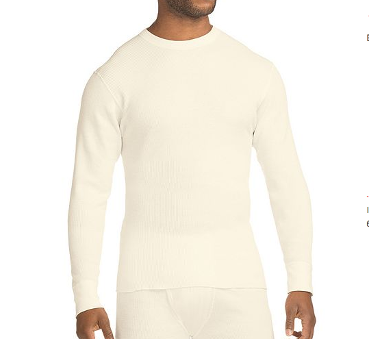 US企画 Hanes Beefy Men's Organic Cotton Thermal