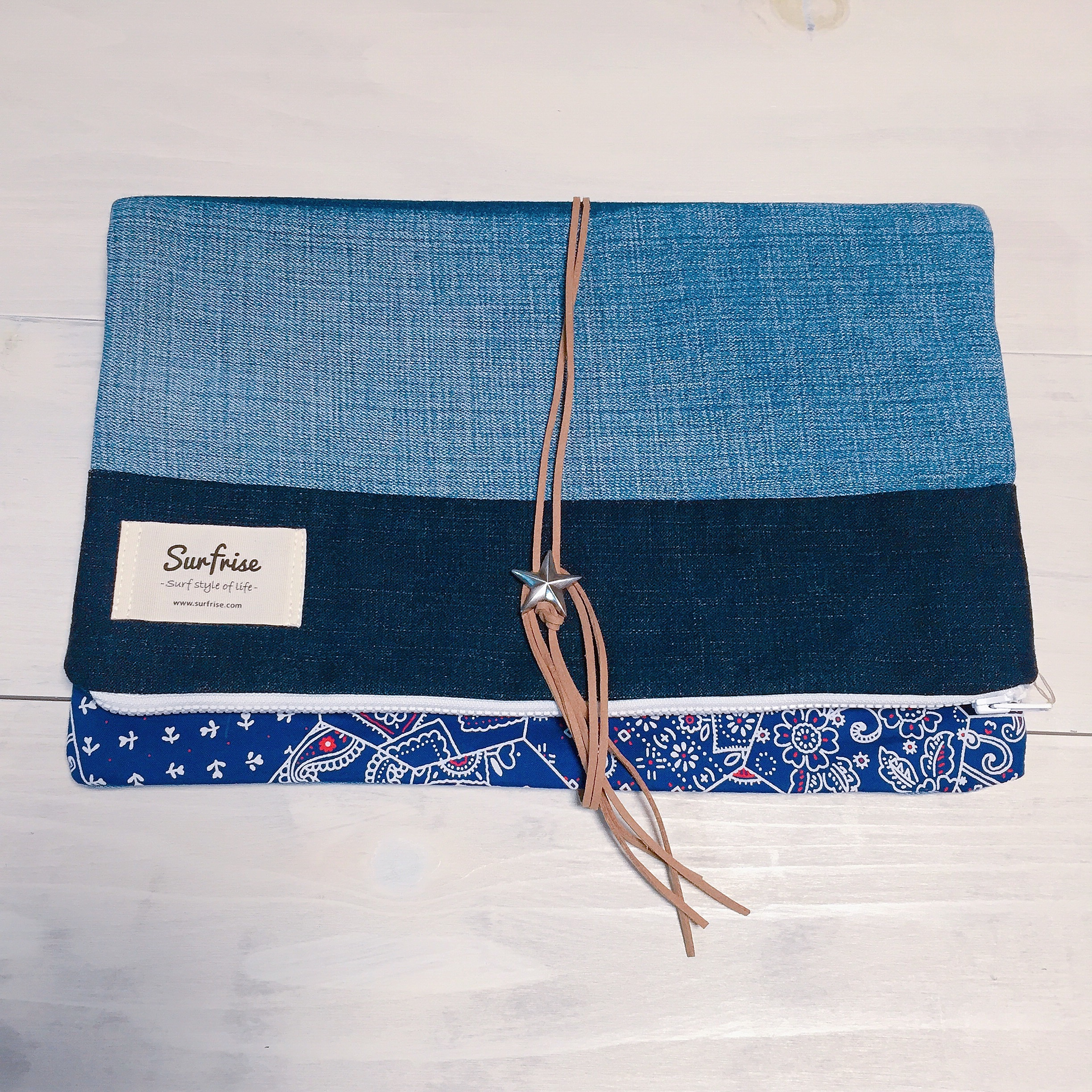 Denim clutch bag (Folding type) S7