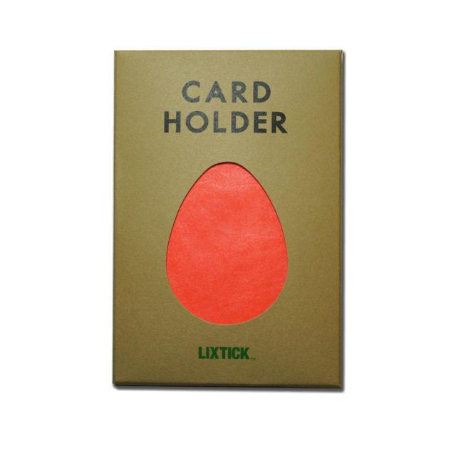 LIXTICK PAPER CARD HOLDER – HRMS ORANGE / LIXTICK