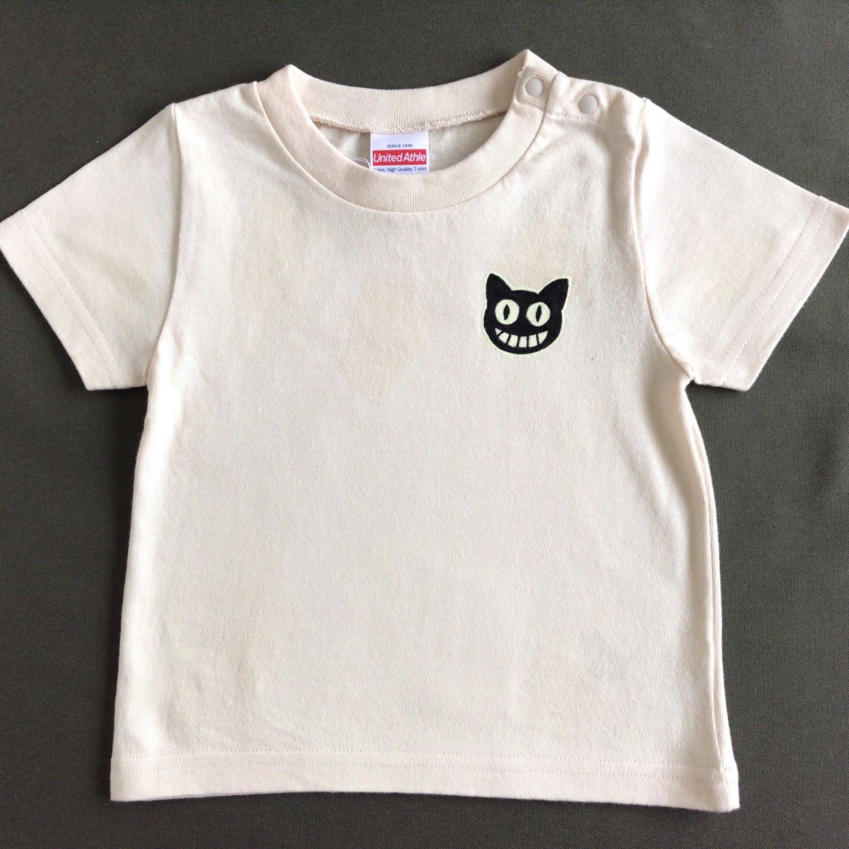【受注制作】2パターン楽しめる!光る手描きTシャツ【BLACK CAT】
