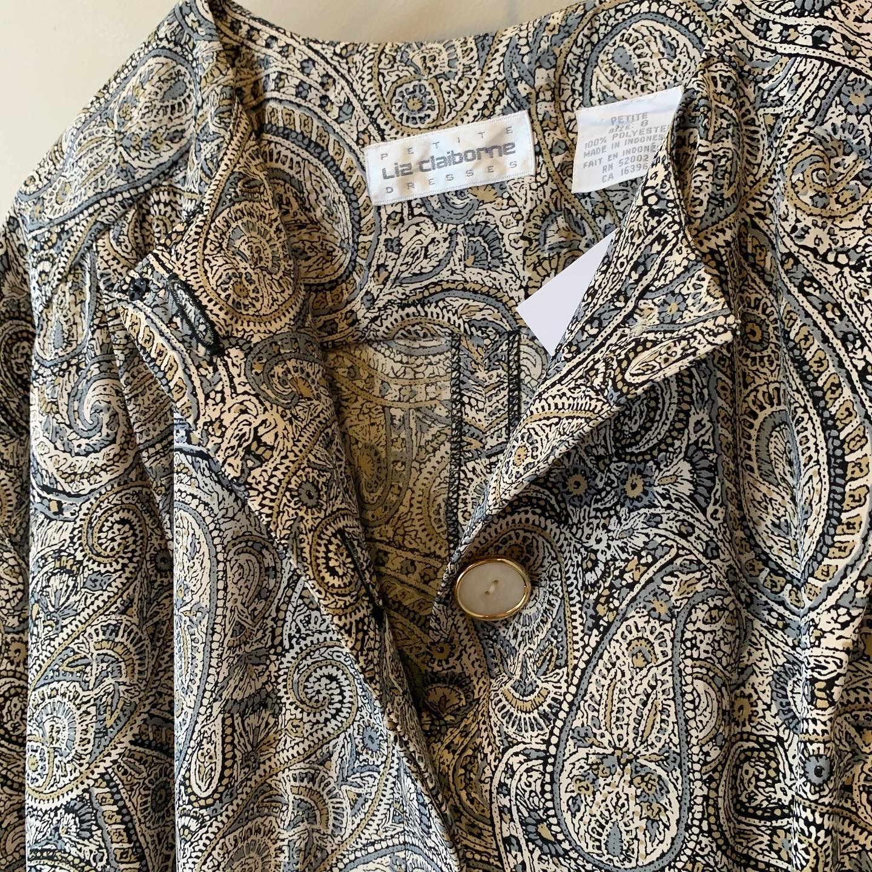 vintage paisley design dolman onepiece