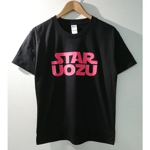 STAR UOZU Tシャツ ブラック×ショッキングピンク