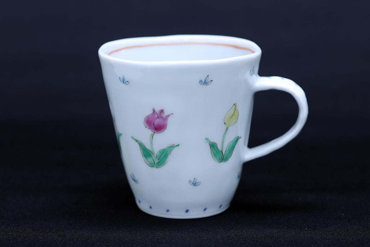 藍水 チューリップ マグカップ(小) うつわ藍水(波佐見焼)人気