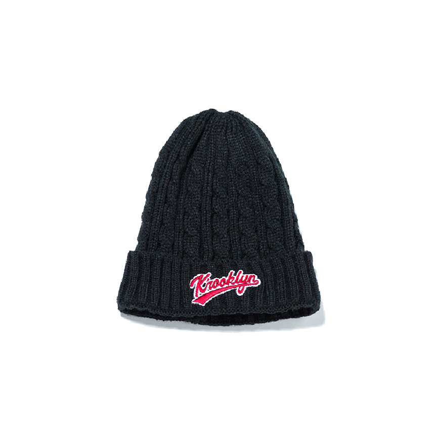 Logo Knit Cap - Black