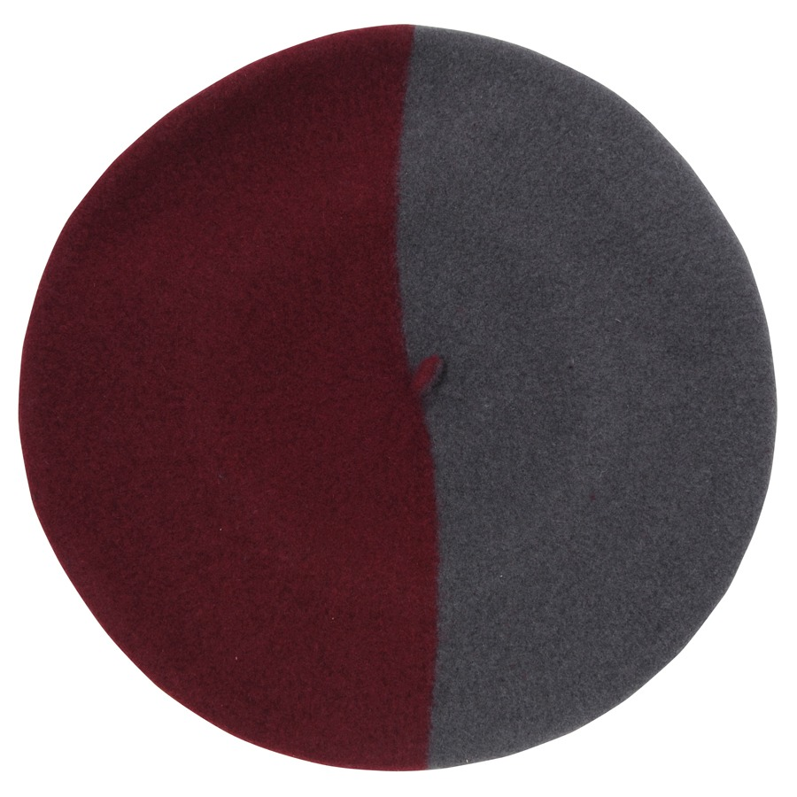 バスク帽 GRAY/D-RED(サイズ15) TDB-09