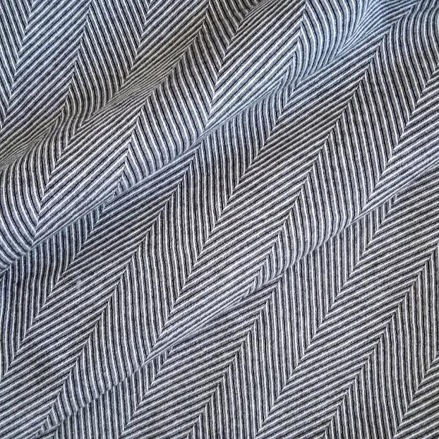 コットンヘリンボーン サーキュラーラップスカート