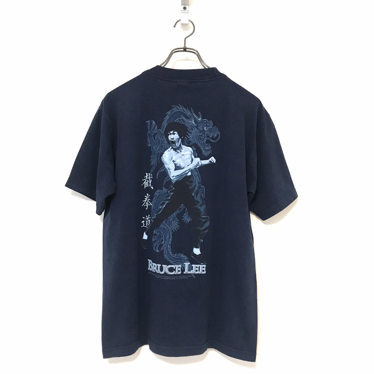 90's ALSTYLE APPAREL BLUCE LEE Official T-shirt M Navy