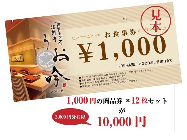【売り切れ次第終了】限定販売 1000円×12枚チケットセットで1万円