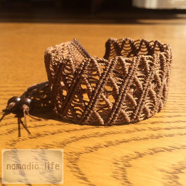 No.6//lacy bracelet/レース編みマクラメブレスレット
