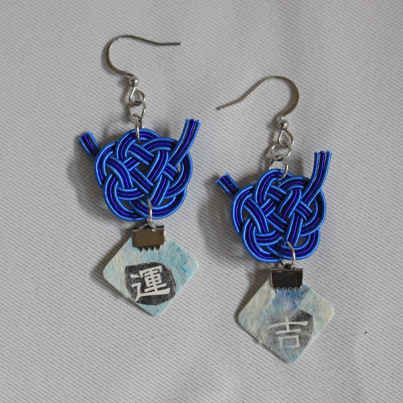 和紙&水引ピアス①<japanese paper & mizuhiki earrings①>