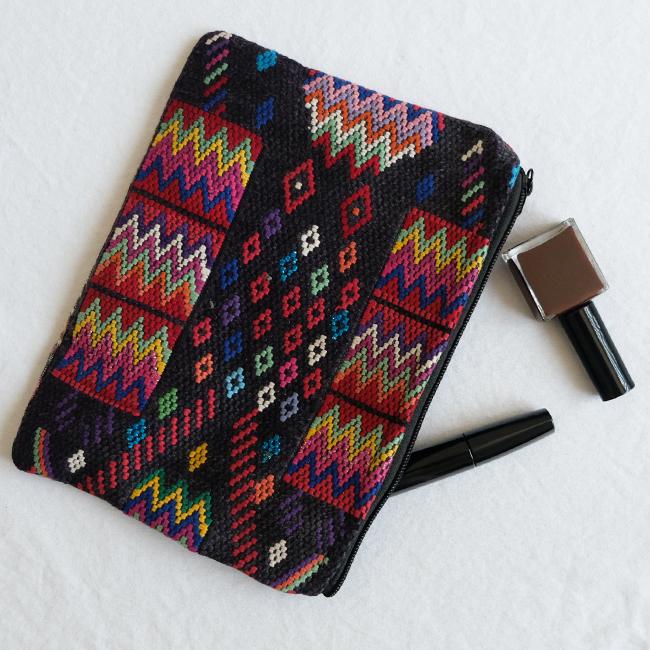 民族衣装の織りウィピルポーチ /231b/ GUATEMALA グアテマラ