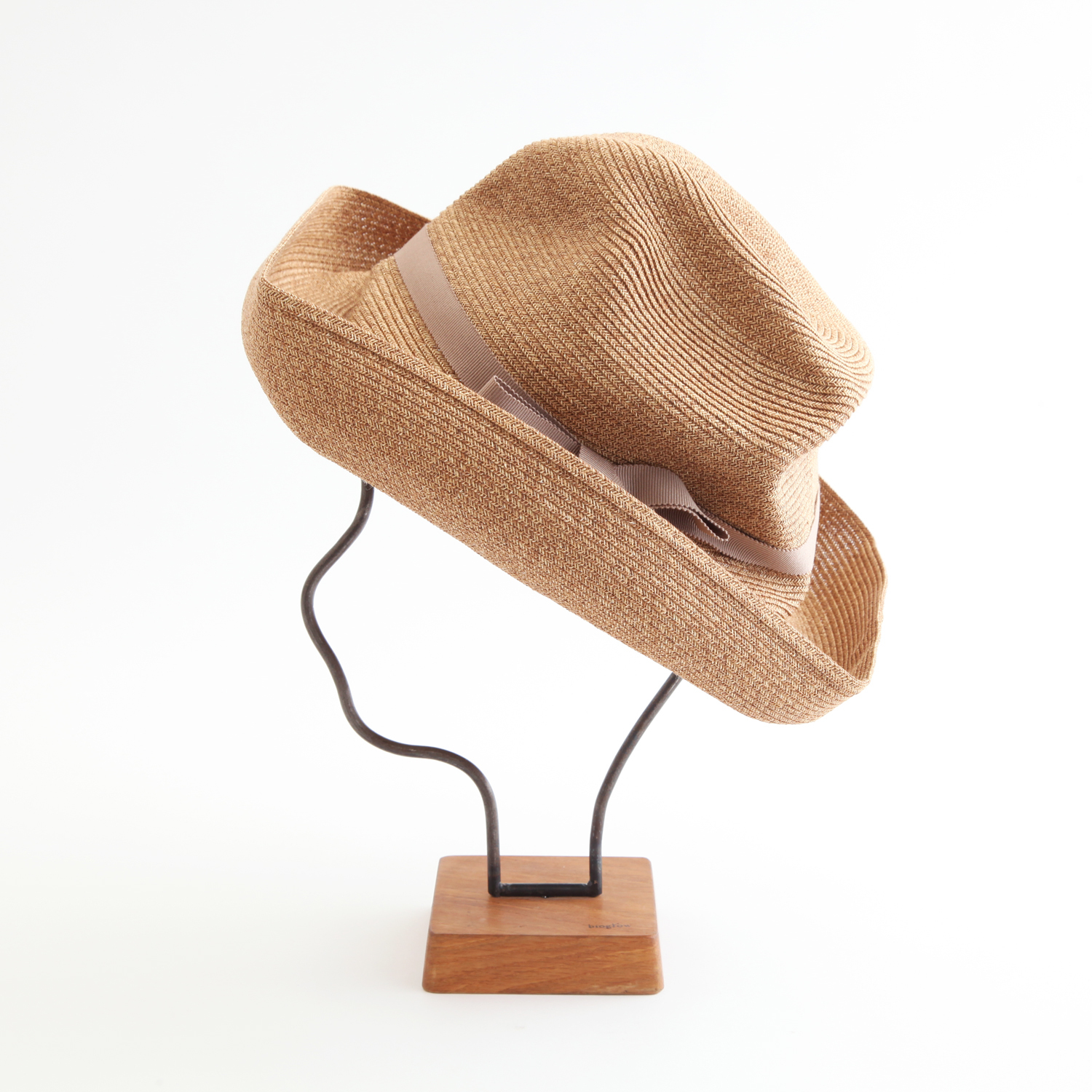 mature ha./BOXED HAT 101 mixbrown×pinkie  beige