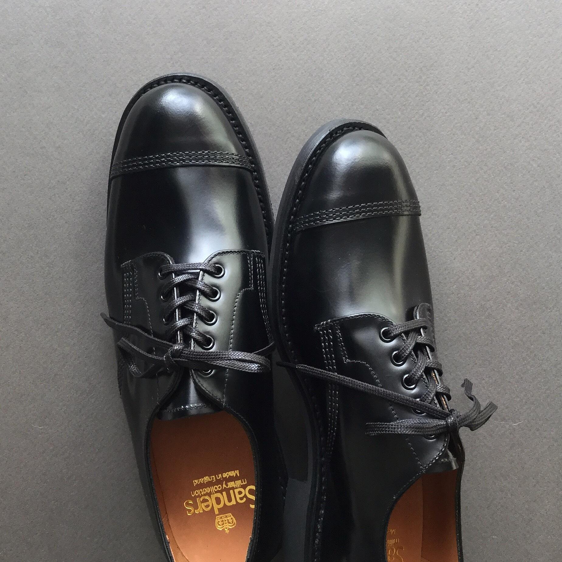 "SANDERS(サンダース)  ""#1128B military derby shoe"" (ミリタリーダービー)"