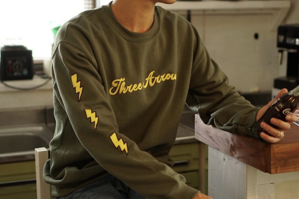 【11/6 21:00 販売開始】Candee logo Sweat(khaki)