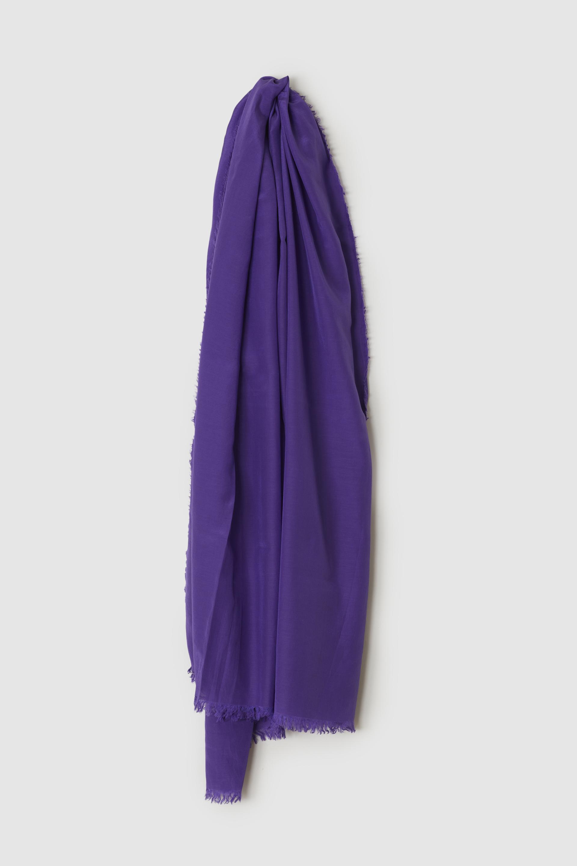綿シルクスカーフ PANSY-VIOLET