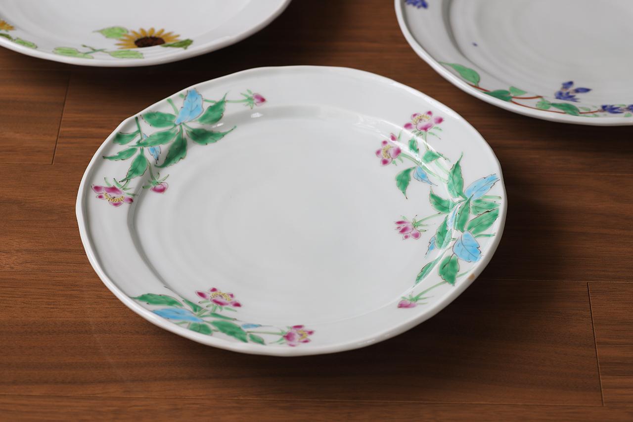 藍水 クリスマスローズ 8寸皿 うつわ藍水 波佐見焼 直径約25cmのプレート