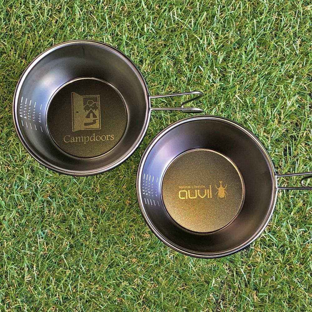 【SomAbito×auvil】【SomAbito×Campdoors】 Black sierra cup ブラックシェラカップ