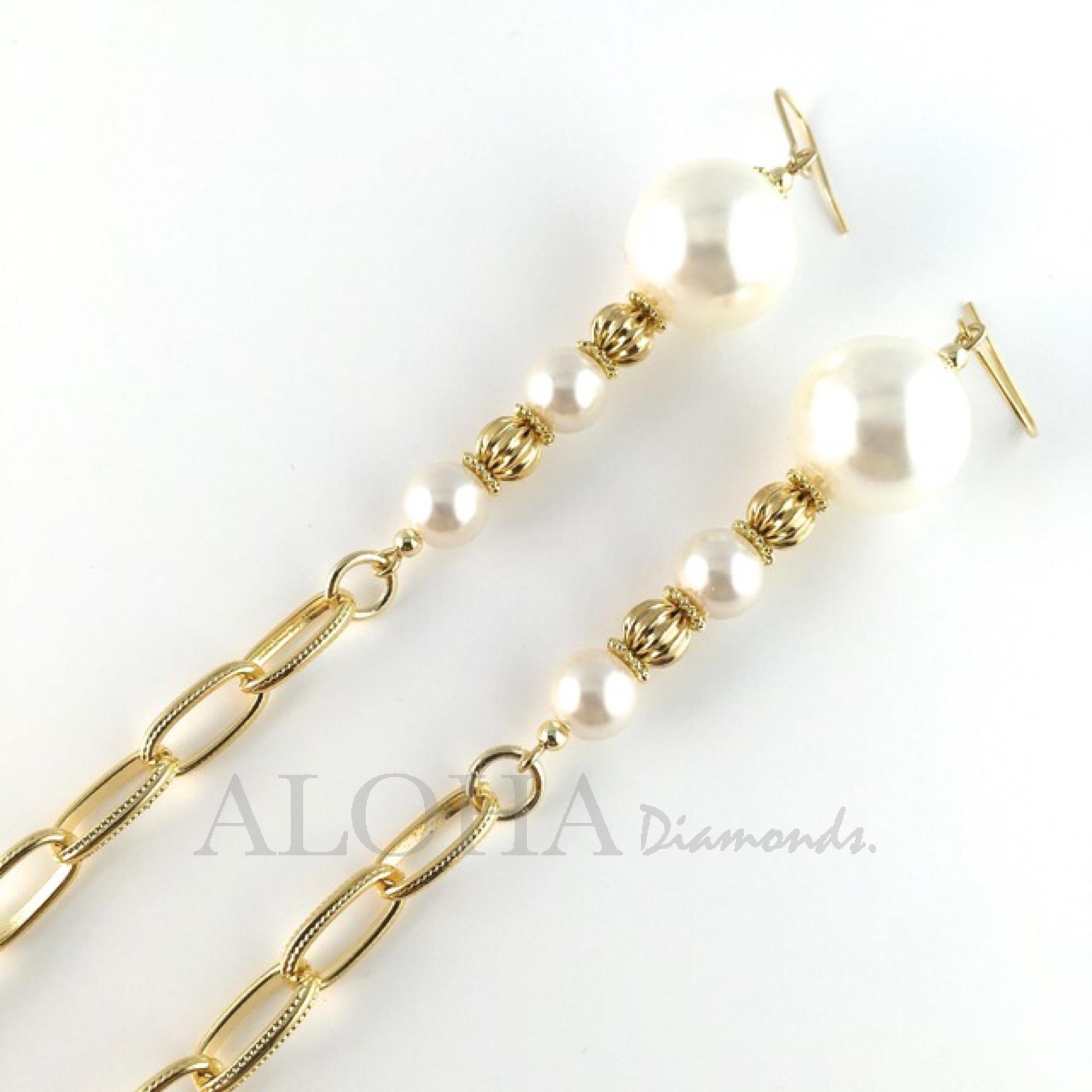 ▲ ▲ ▲Fancy Pearl Goddess▲ ▲ ▲ ゴールド/ピアネックレス