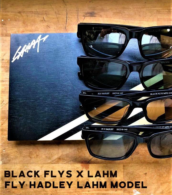【送料無料】【数量限定お早めに】フライハドレー/FLY HADLEY 【LAHM別注モデル】BLACK FLYS
