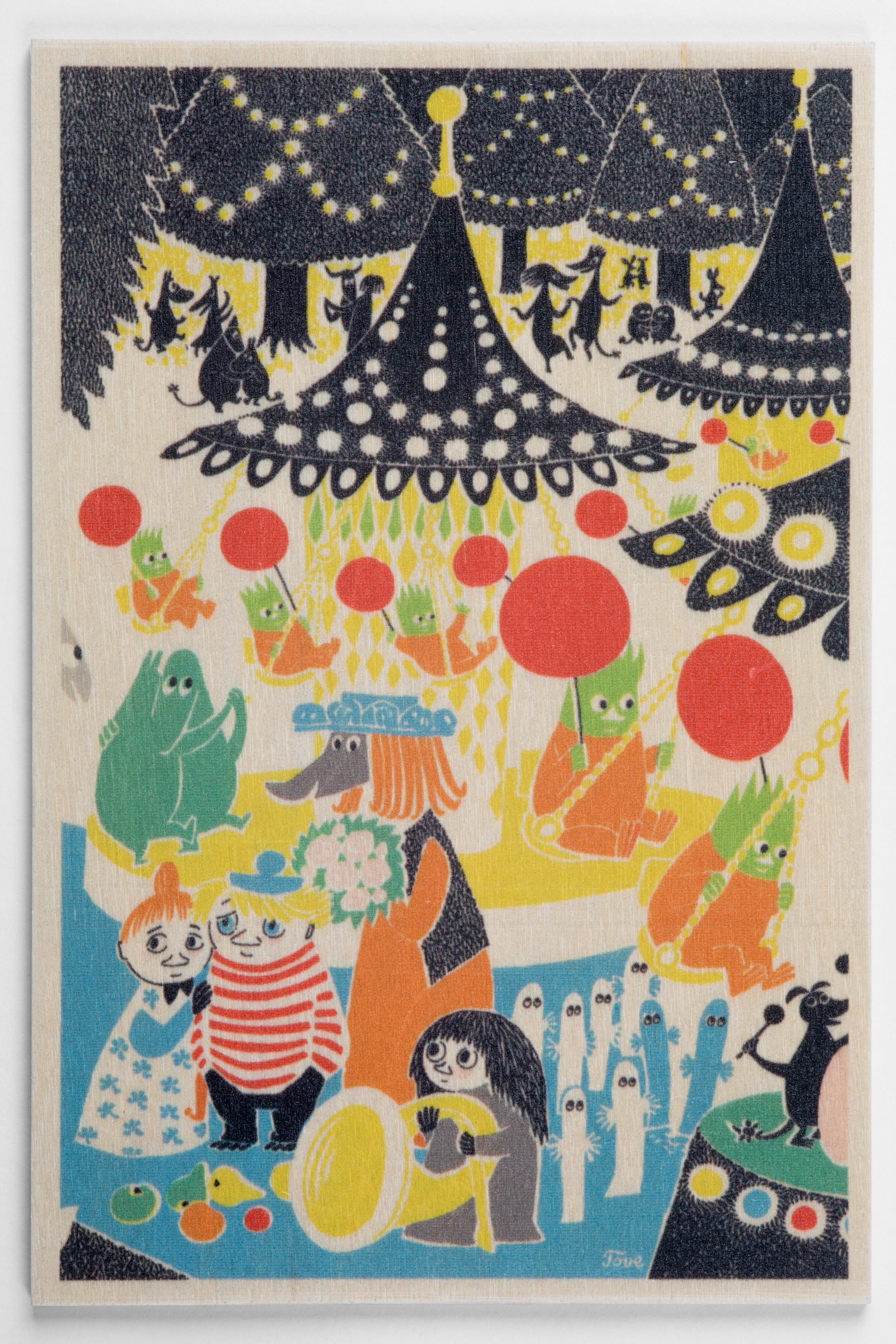 白樺ポストカード 10x15cm ムーミン 「パーティー」
