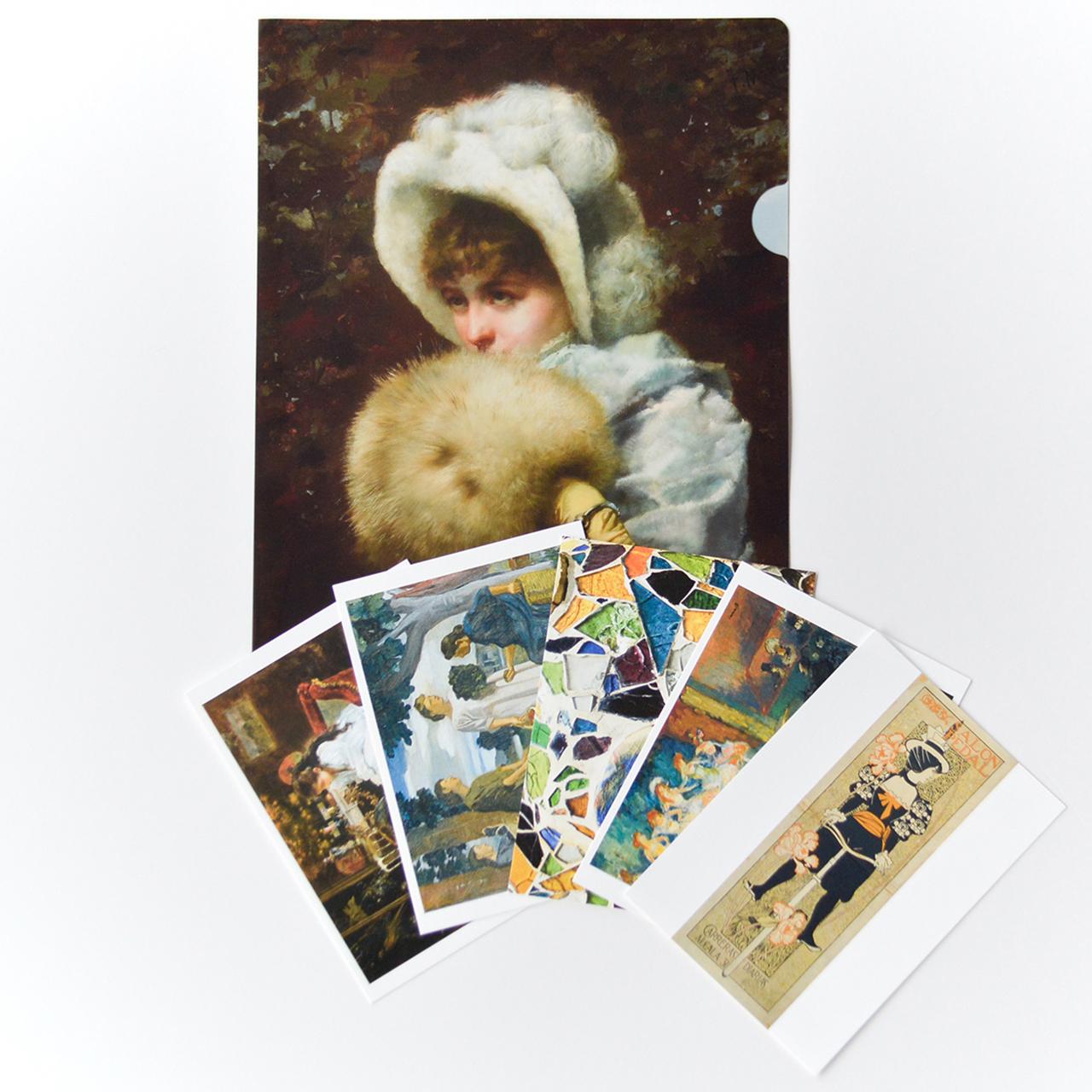 「奇蹟の芸術都市 バルセロナ」展 クリアファイル / ポストカード5枚セットA