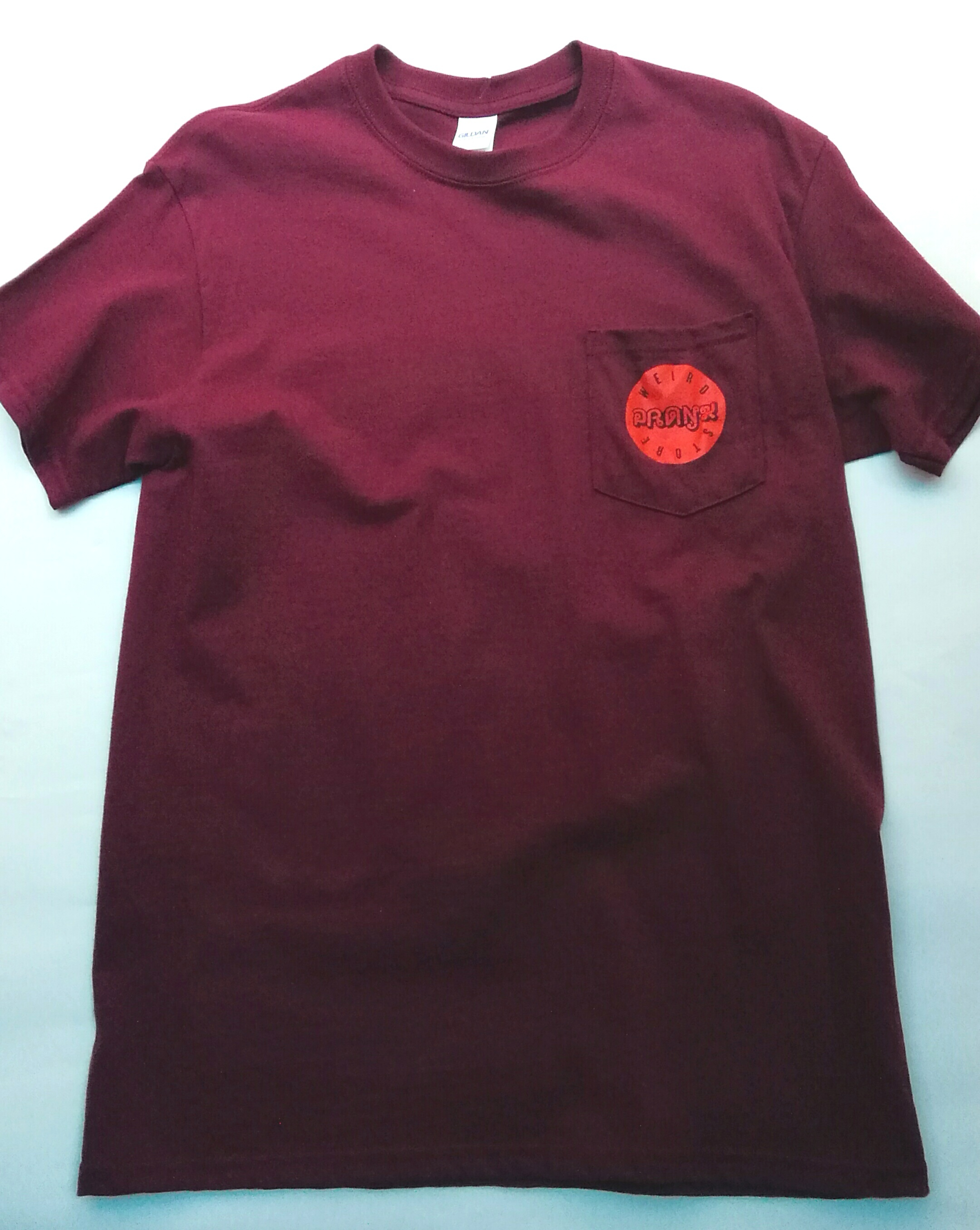 ACCIDENT Pocket Tee MAROON