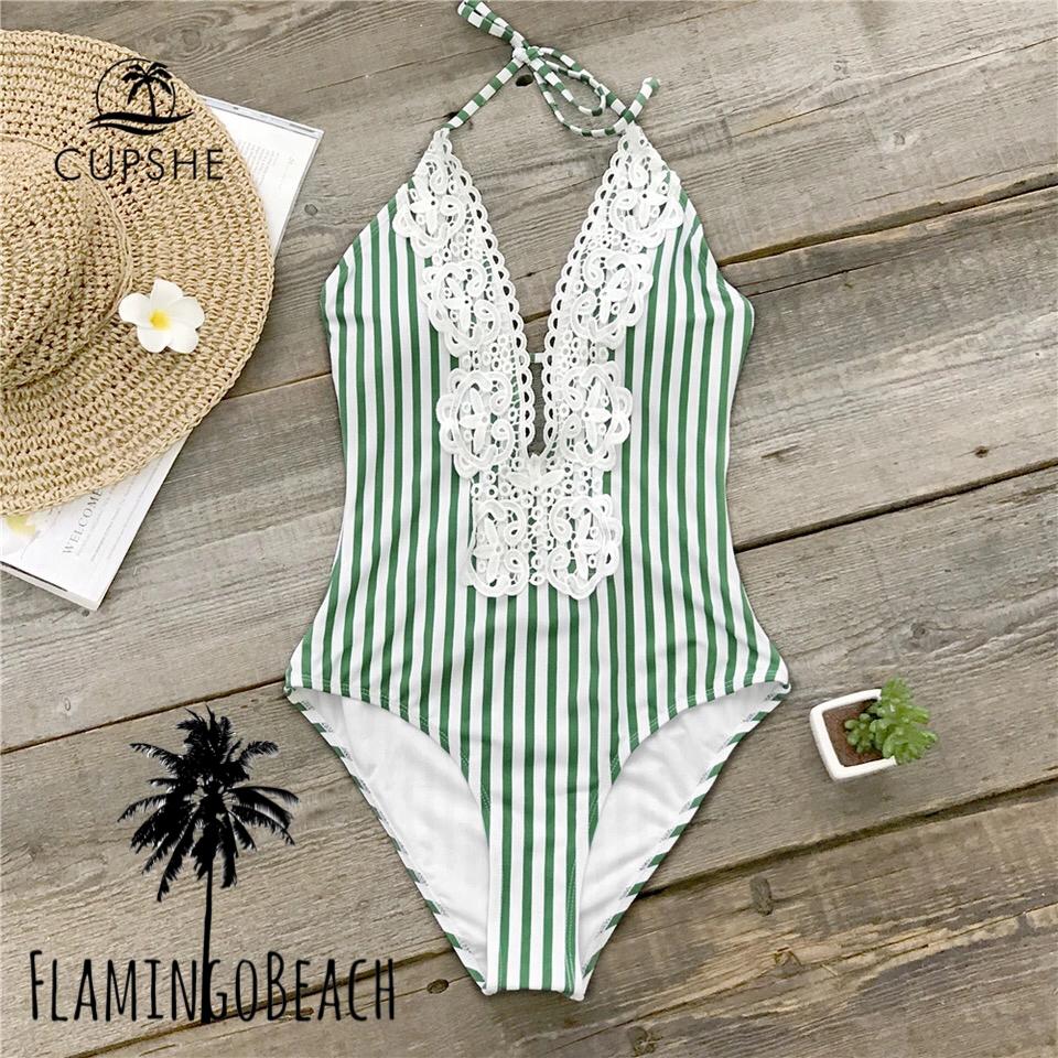 【FlamingoBeach】stripe lathe monokini モノキニ