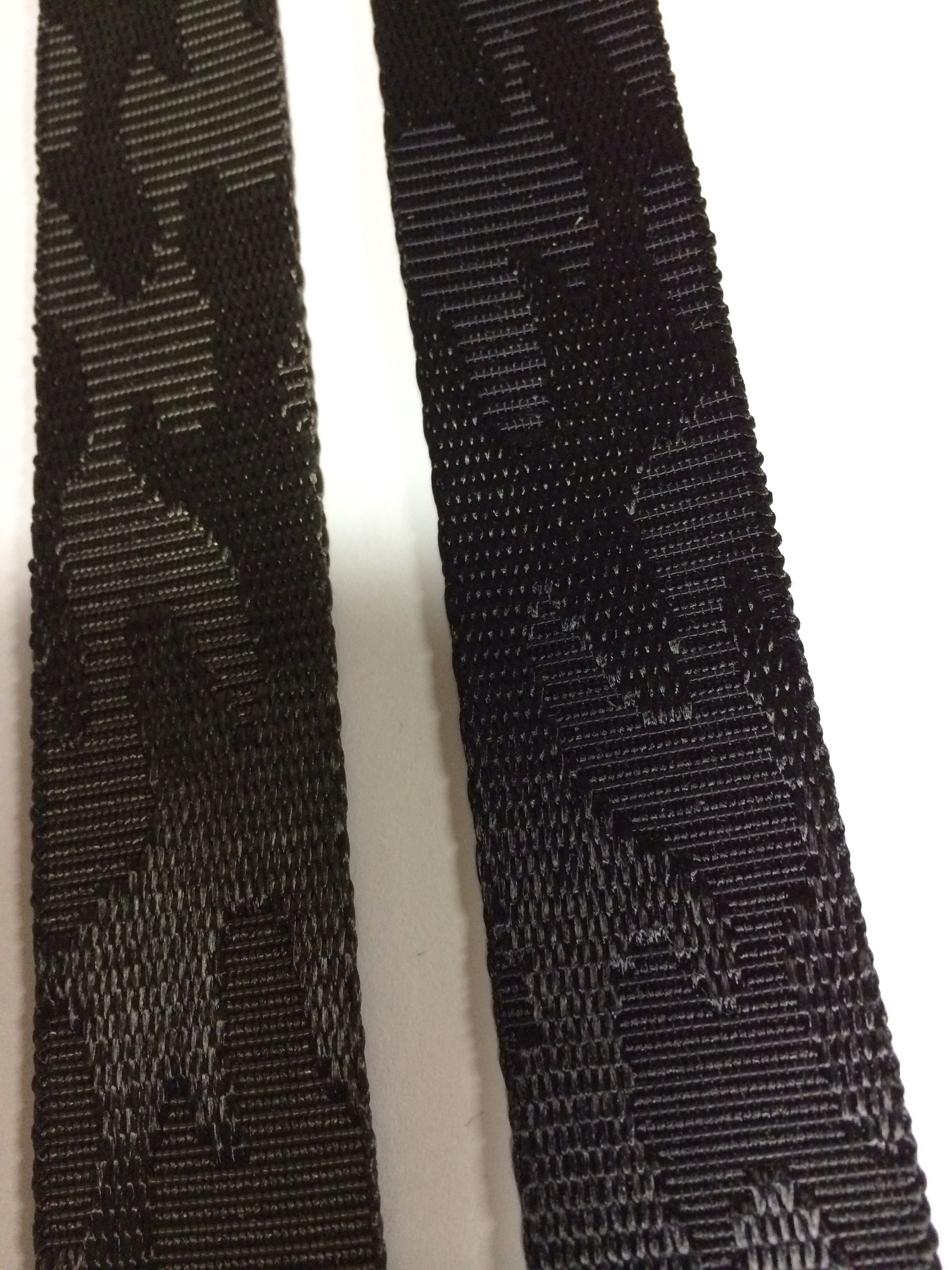 ナイロンテープ  ジャガード織 迷彩柄 30mm幅 黒  5m単位 在庫限り