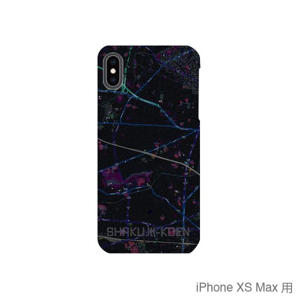 【石神井公園】地図柄iPhoneケース(バックカバータイプ・ブラック)