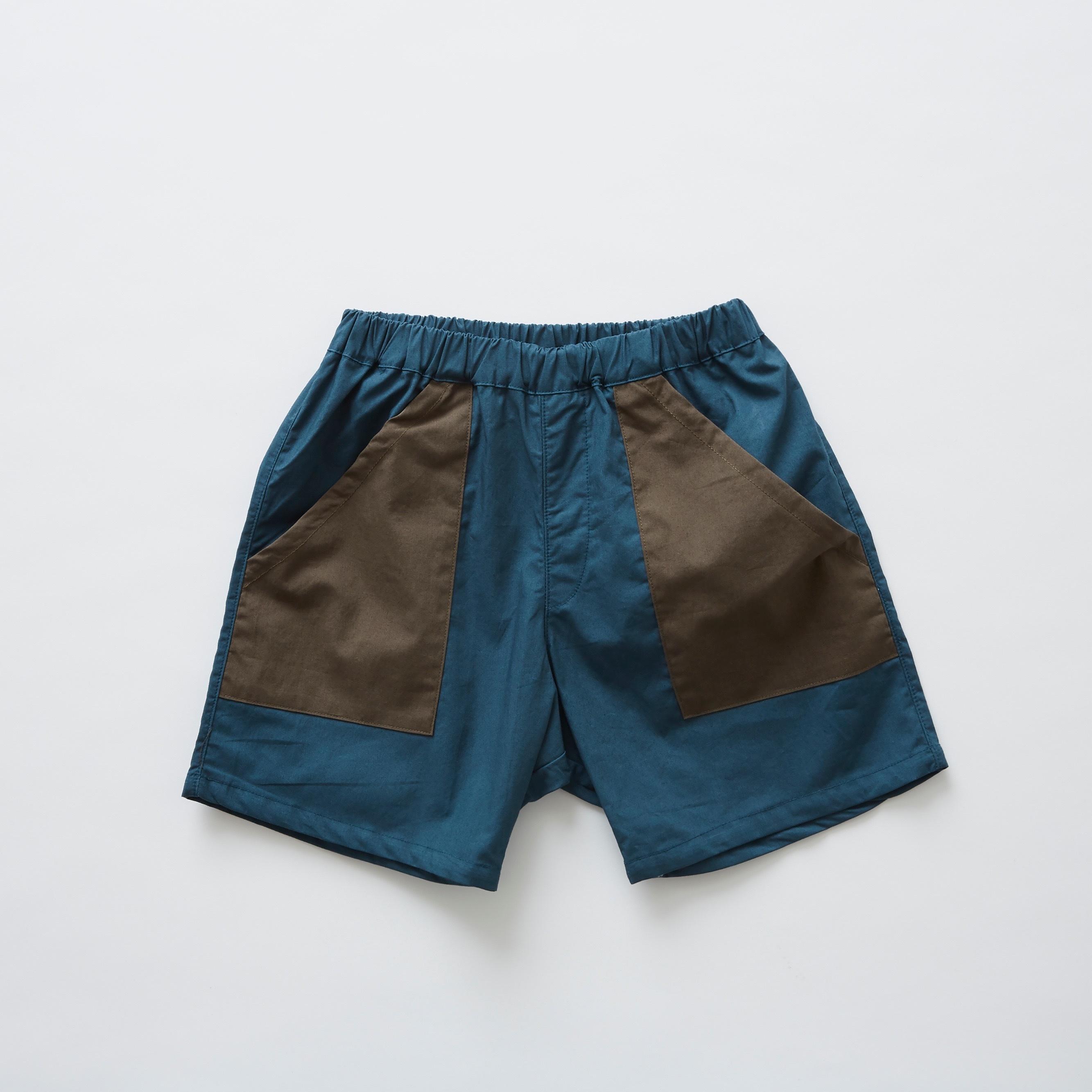 《eLfinFolk 2019SS》typewriter shorts / blue / 80-100cm