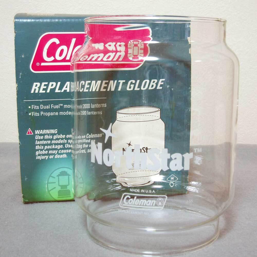 レア!USAプリント!コールマン グローブ #2000 #2500 ノーススター ガラスグローブ
