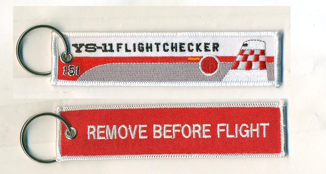 REMOVE BEFORE FLIGHTキーホルダー/YS-11 フライトチェッカー