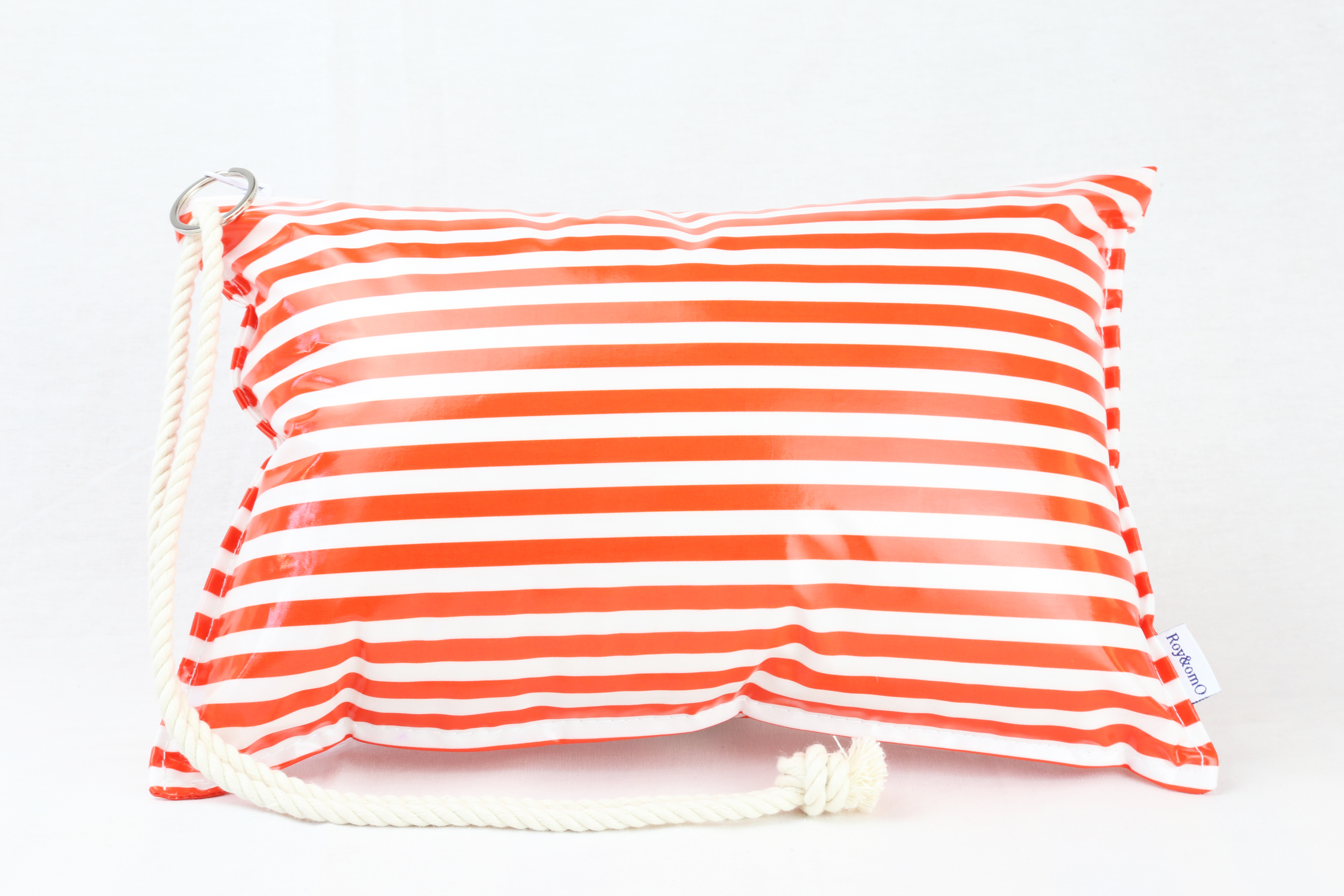 Pillow Bag (plumpillow purse)【Border Orange】まくら×ポーチ アウトドア