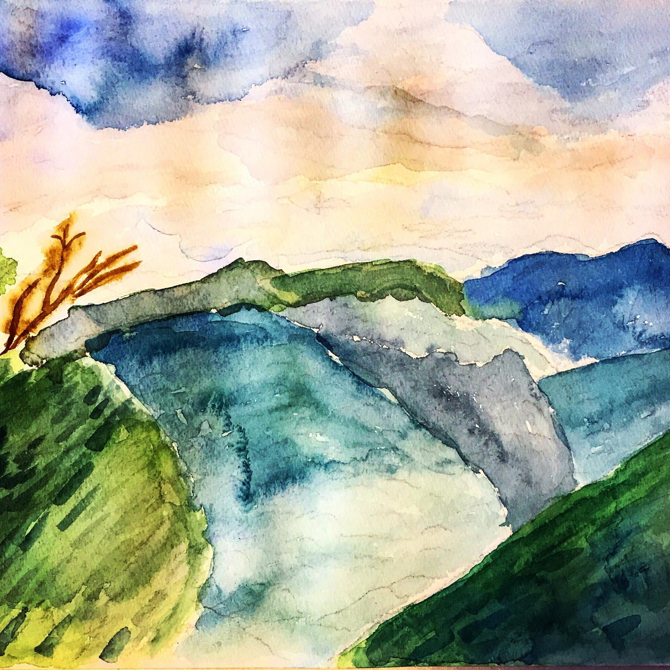 絵画 インテリア アートパネル 雑貨 壁掛け 置物 おしゃれ 風景画 アブストラクトアート 山 ロココロ 画家 : YUTA SASAKI 作品 : いつかの山