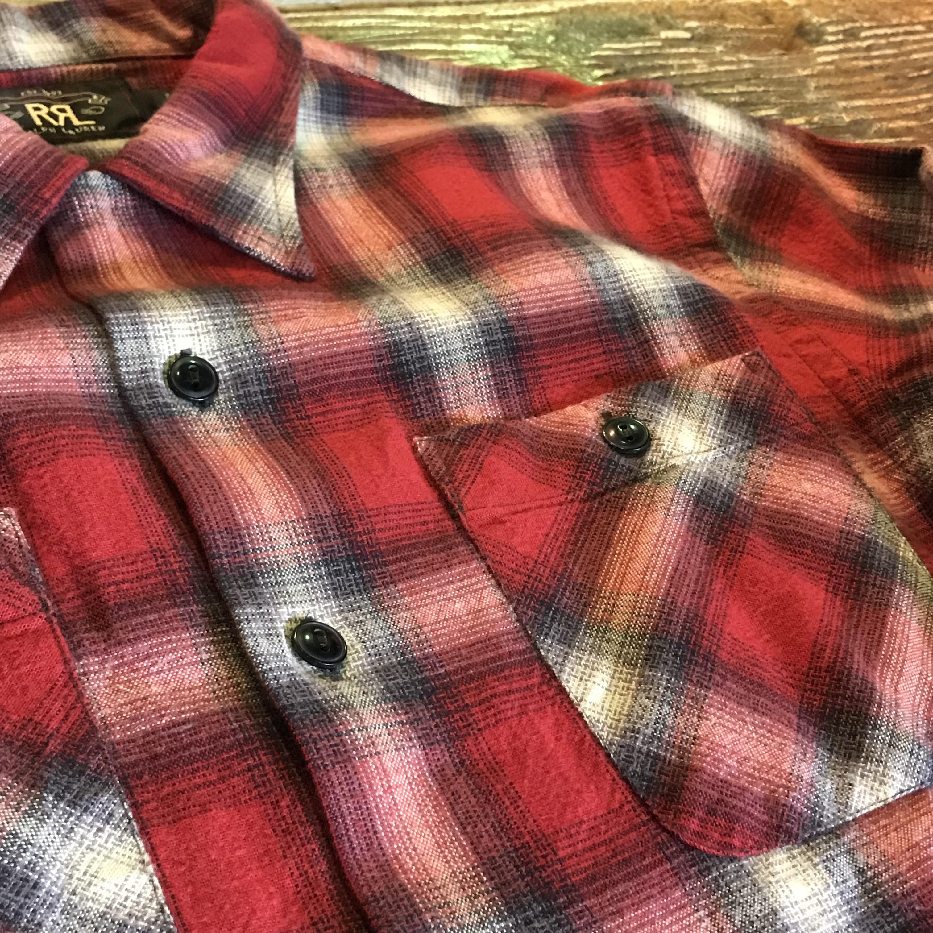 【新品】RRL Ombre Plaid Shirts オンブレ チェックシャツ ネルシャツ