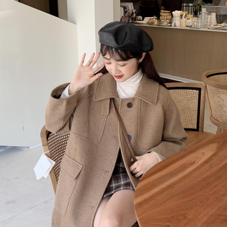 【送料無料】2wayの着こなし ♡ きれいめ 大人可愛い シングルボタン スタンドカラー ステンカラーコート アウター