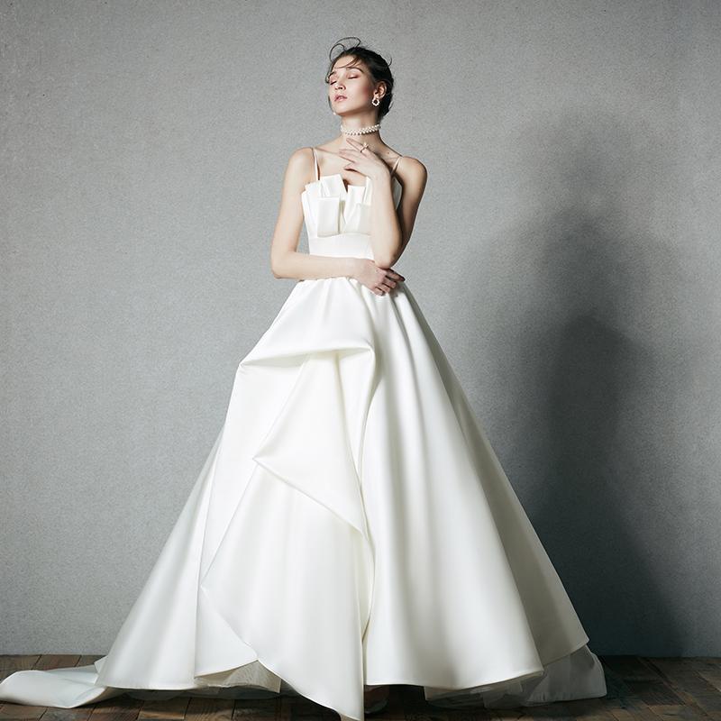 【DearWhite】ウェディングドレス Aライン プリンセス エンパイア デコルテ 結婚式 披露宴 二次会 パーティーウェディングドレス・カラードレス・サイズオーダー格安オーダーメイド DW00049