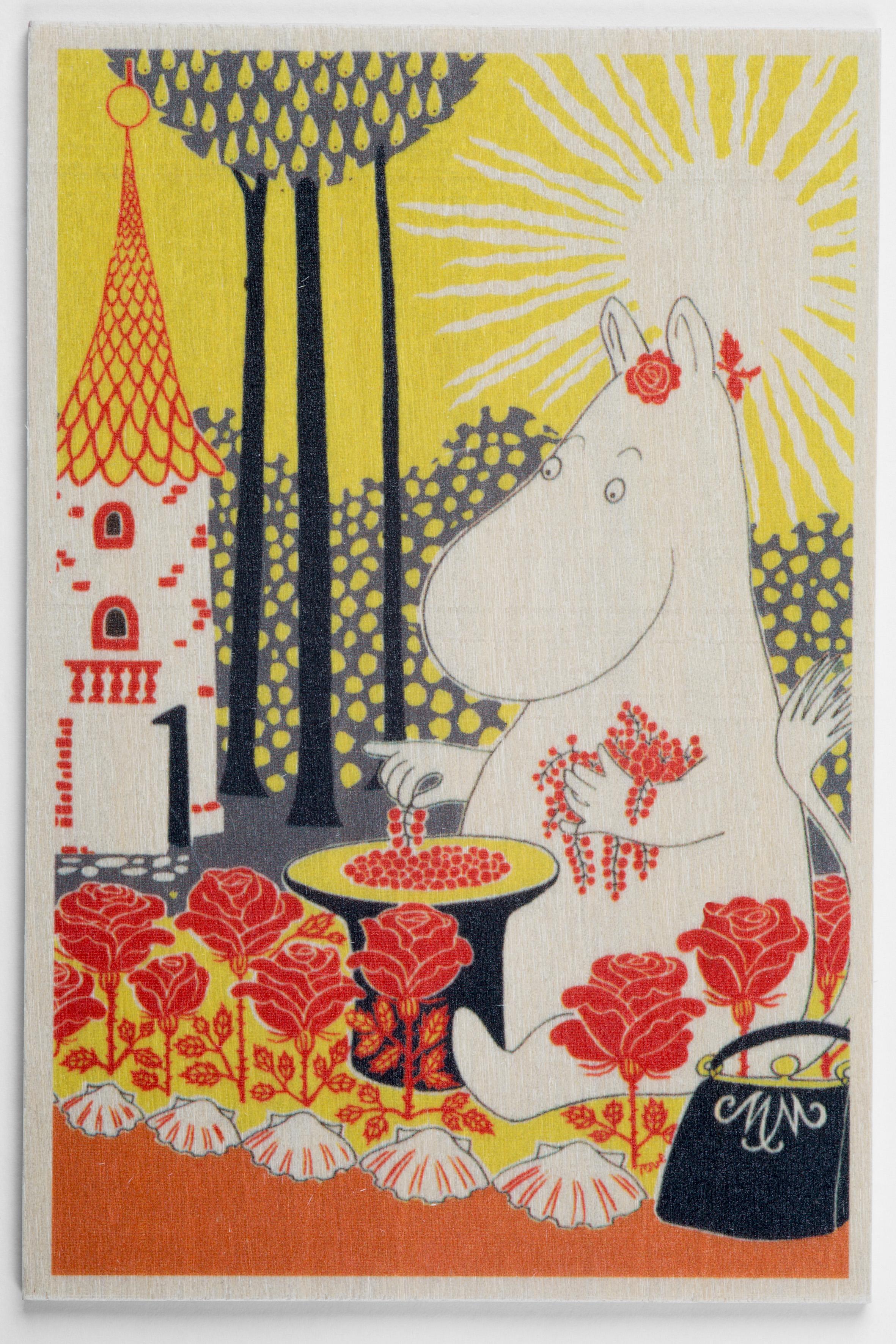 白樺ポストカード 10x15cm ムーミン 「ムーミンママ」