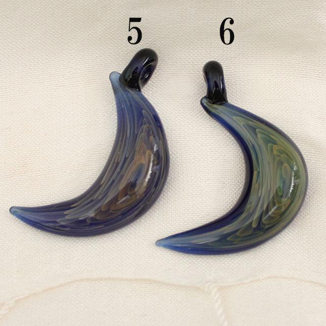 【1点もの/MAHAO/高品質】パイレックスガラスペンダント Luna(1つ選んでください)