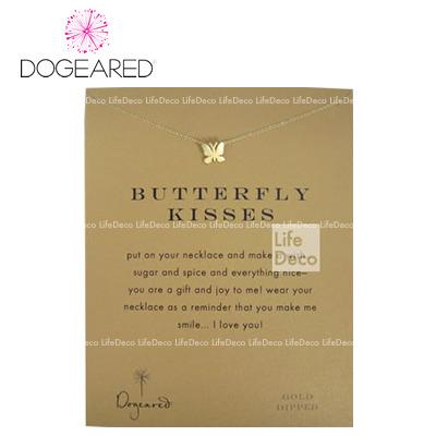 Dogeared ドギャード  make a wish メイクアウィッシュ リマインダー ネックレス Butterfly Kisses バタフライ キス ゴールド