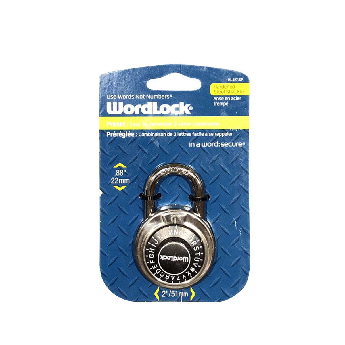WordLock コンビネーションパッドロック 南京錠