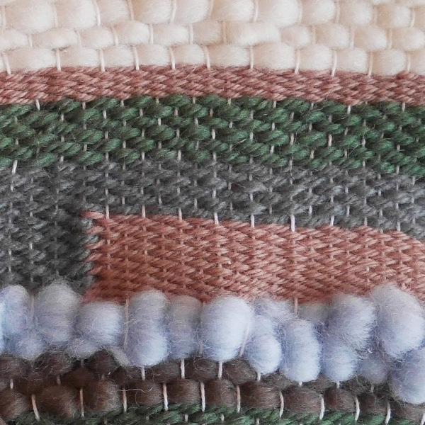 ≪オリジナル≫手織りタペストリー【落ち葉と土の匂い】