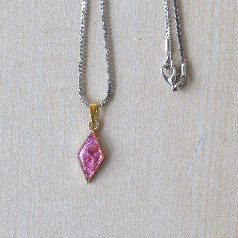 アートネックレス(ピンク) necklace 【さっぽろアイヌクラフト】