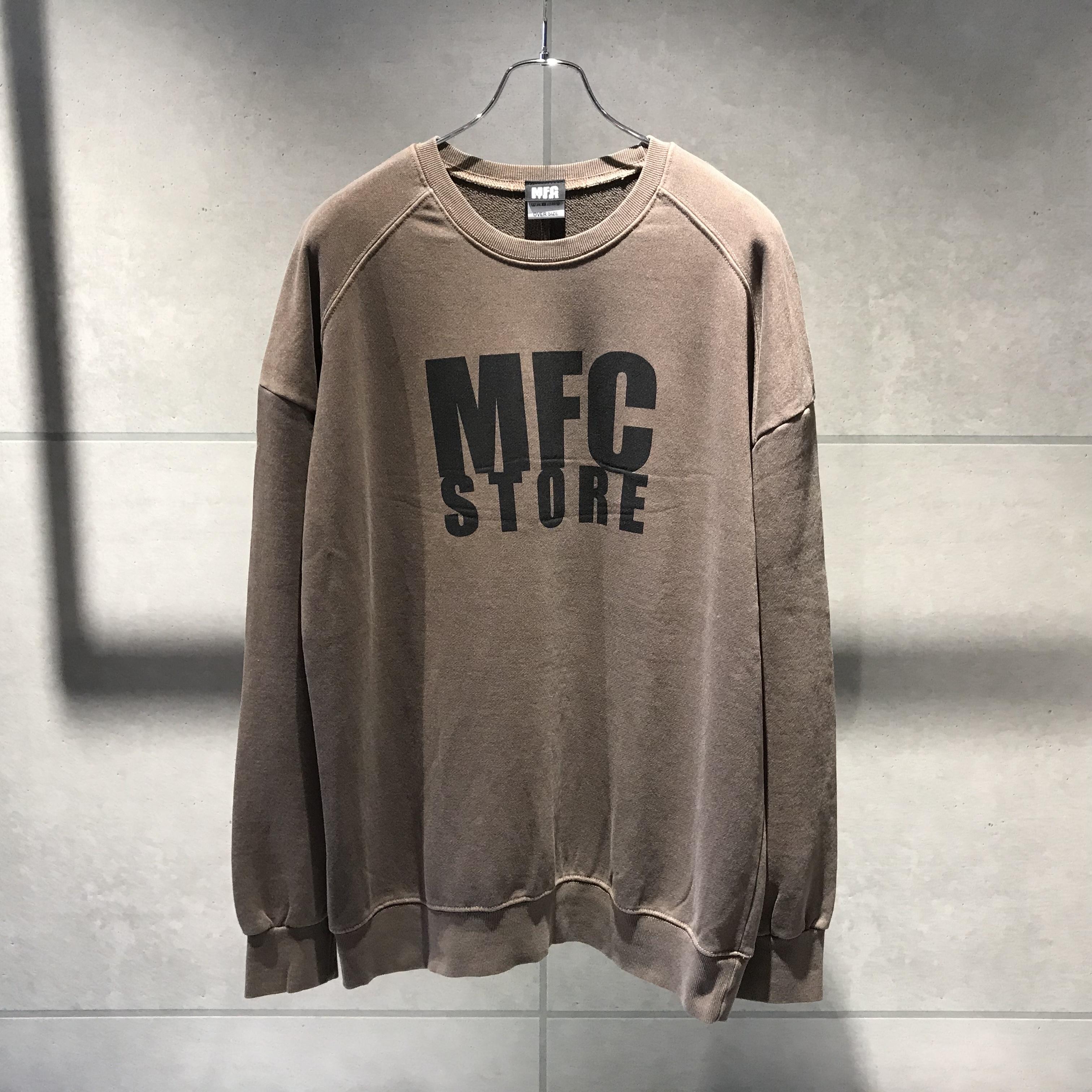 MFC STORE LOGO CREWNECK OVER SWEATSHIRT / BROWN